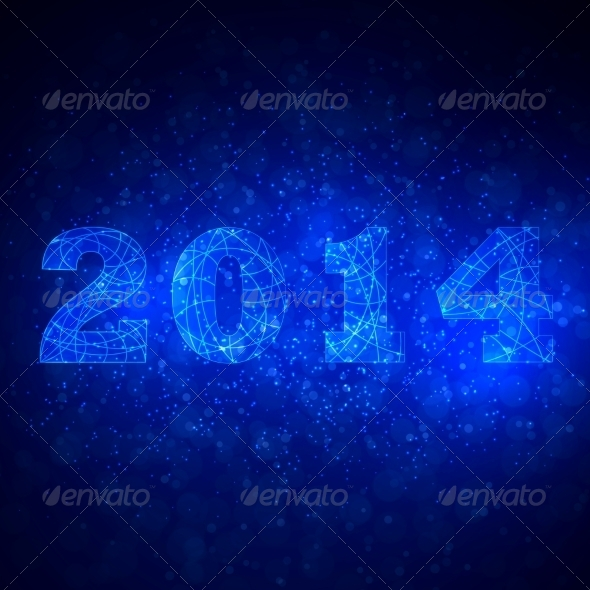 GraphicRiver Abstract Background with 2014 7546712