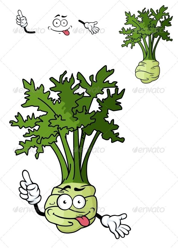 GraphicRiver Cartoon Celery Vegetable 7546723