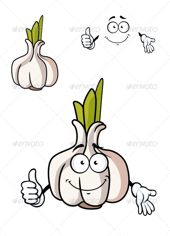 GraphicRiver Garlic Bulb Cartoon 7546726