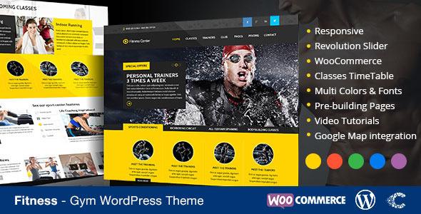 ThemeForest Fitness WordPress Theme eCommerce 7546739