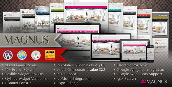 Magnus Multi-Purpose Responsive Wordpress Theme
