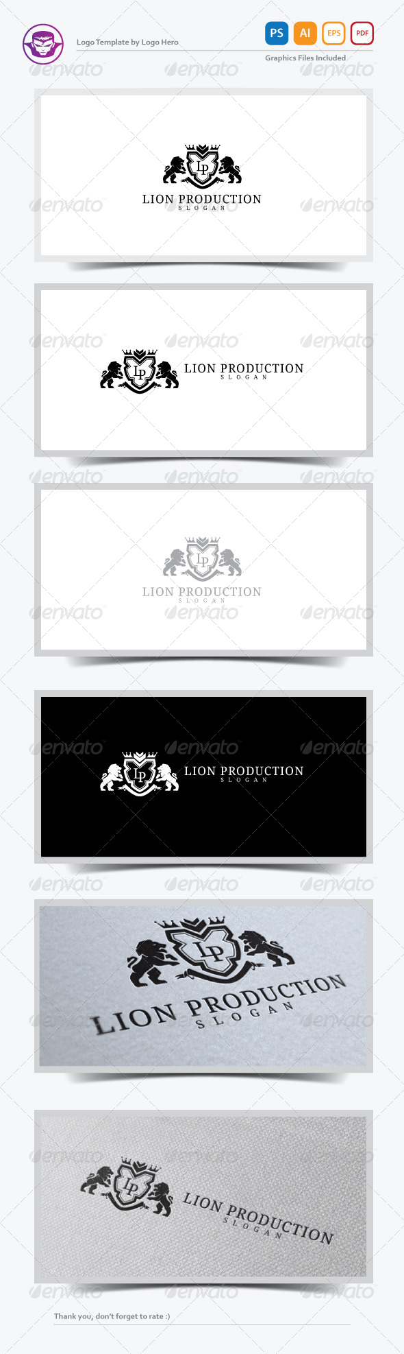 GraphicRiver Lion Production Logo Template 7546771