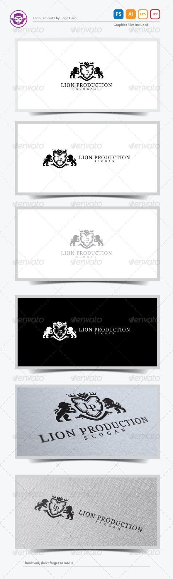 Lion Production Logo Template