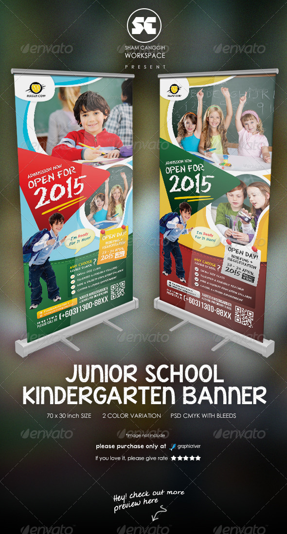 GraphicRiver Kindergarten Junior School Banner 7546799