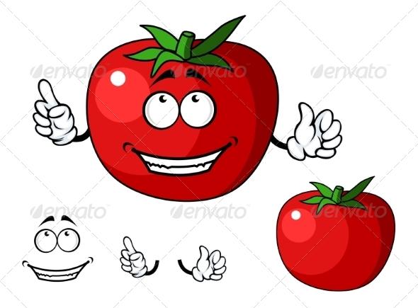 GraphicRiver Ripe Red Happy Tomato Vegetable 7546805