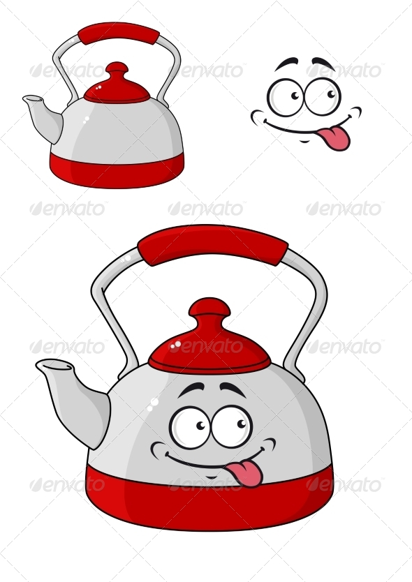 GraphicRiver Cartoon Kettle with a Happy Smile 7546807