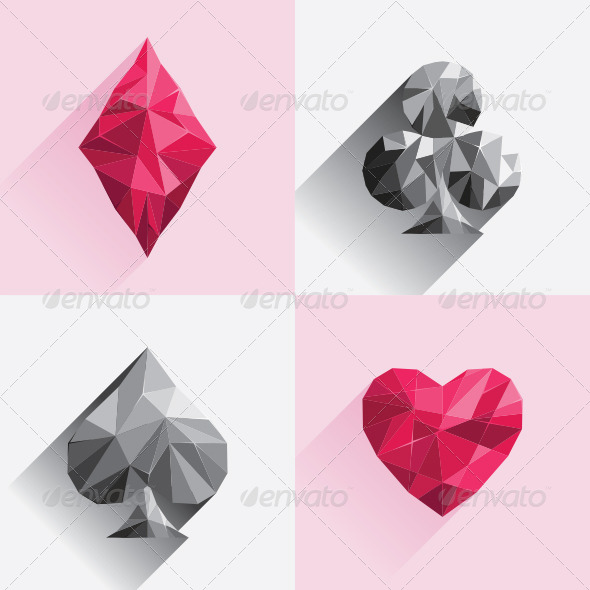 GraphicRiver Playing Card Low Poly Style 7519712