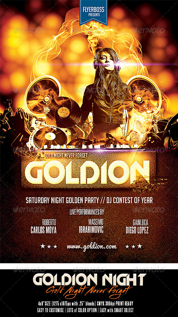 GraphicRiver Goldion Night 7546825