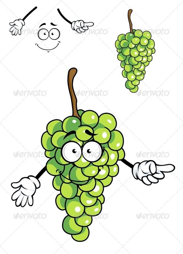 GraphicRiver Grapes Cartoon 7546839