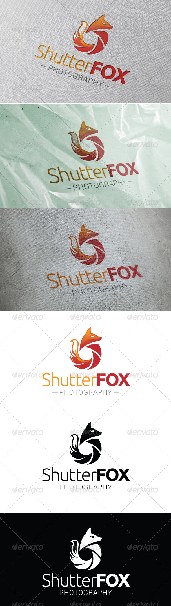 Shutter Fox Logo Template