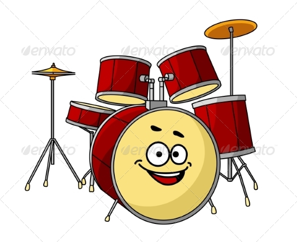 GraphicRiver Drum Set with Laughing Smile 7546903
