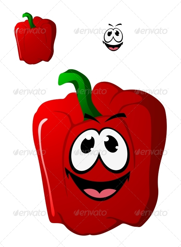 GraphicRiver Colorful Happy Red Sweet Bell Pepper Vegetable 7546908