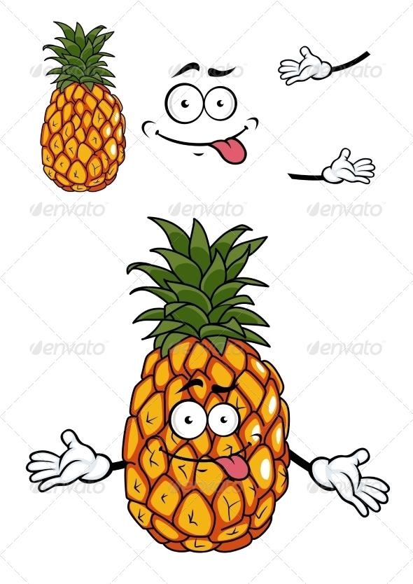 GraphicRiver Pineapple Cartoon 7546917