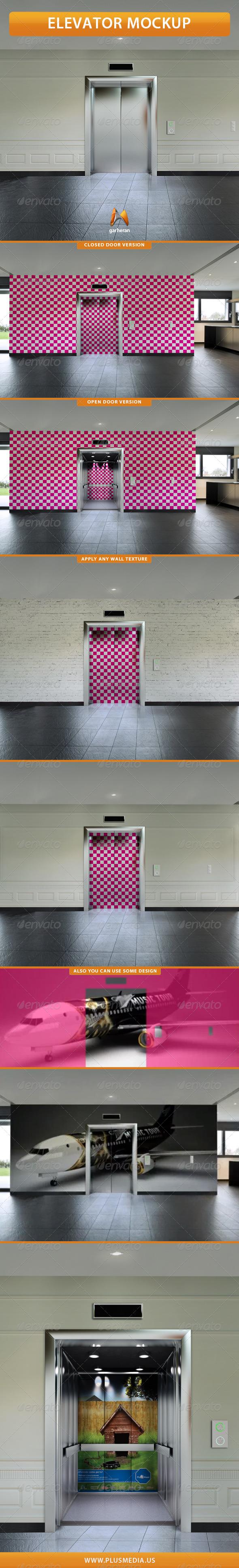GraphicRiver Elevator Mockup 7547589