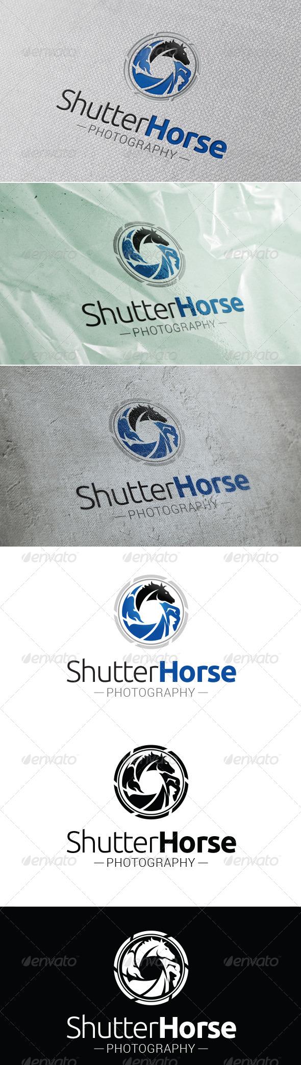 GraphicRiver Shutter Horse Logo Template 7547617