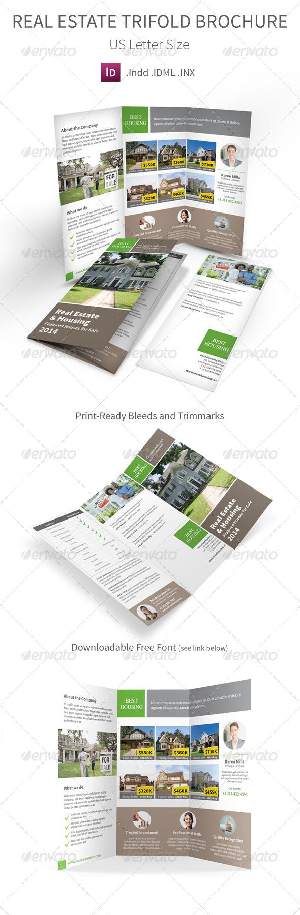 GraphicRiver Real Estate Trifold Brochure 7547645