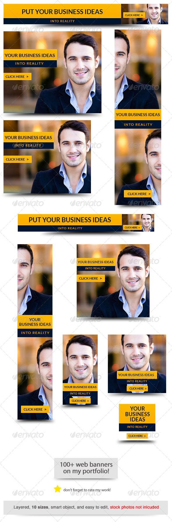 Corporate Web Banner Design Template 36