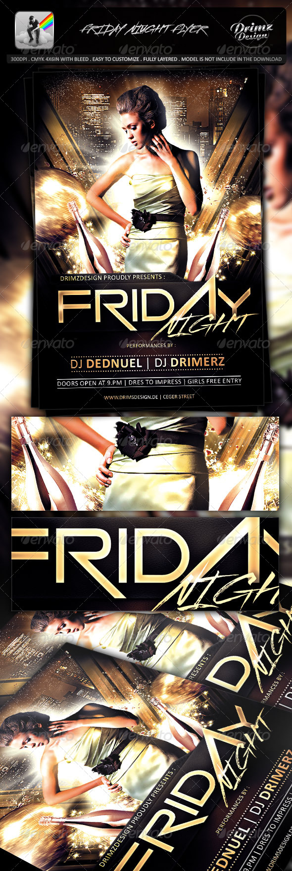 GraphicRiver Friday Night Flyer 7547747