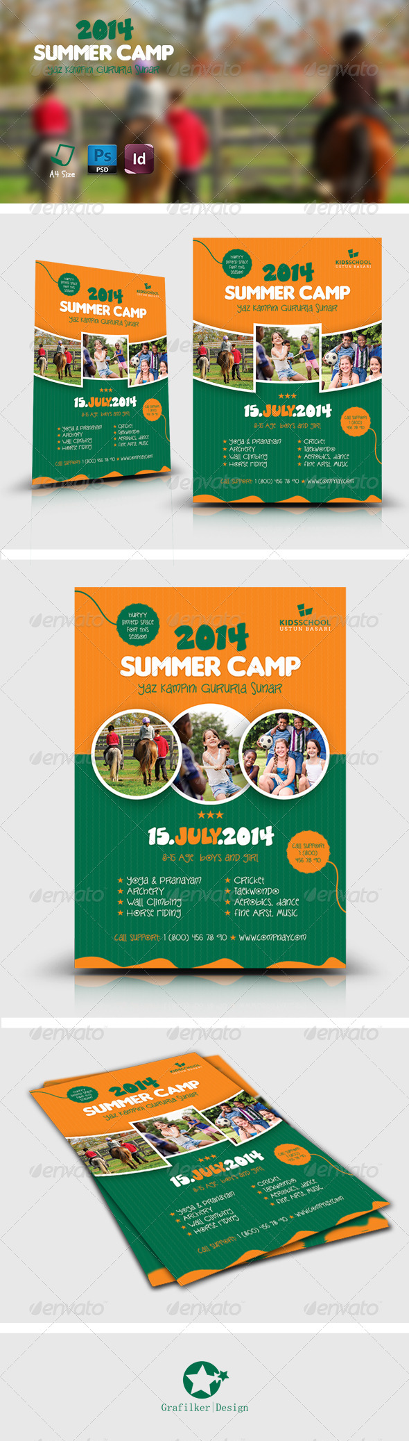 GraphicRiver Summer Camp Flyer Templates 7547750