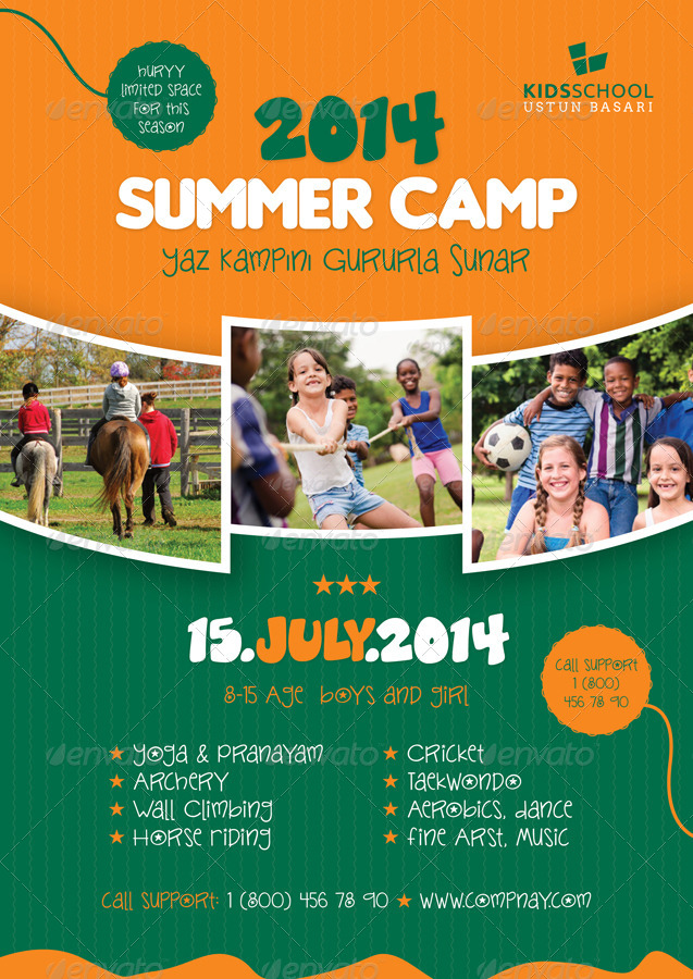 Doc637900 Camp Flyer Template Summer Camp Flyer Templates by – Camp Flyer Template