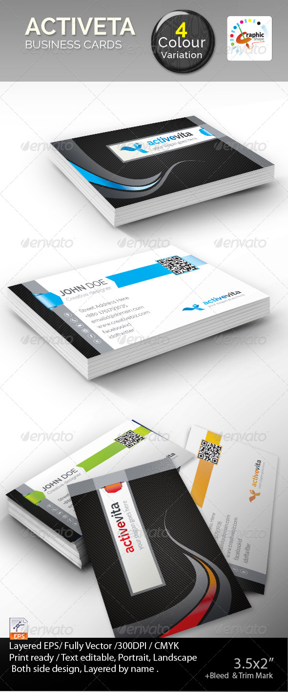 GraphicRiver Activevita Business Cards 7547873