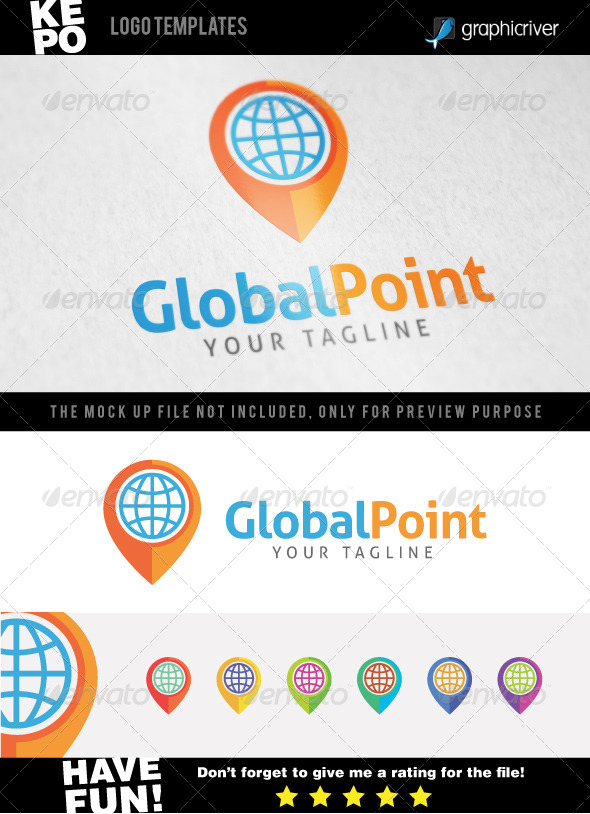 GraphicRiver Global Point Logo templates 7547922