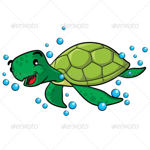 GraphicRiver Sea Turtle Cartoon 7547925