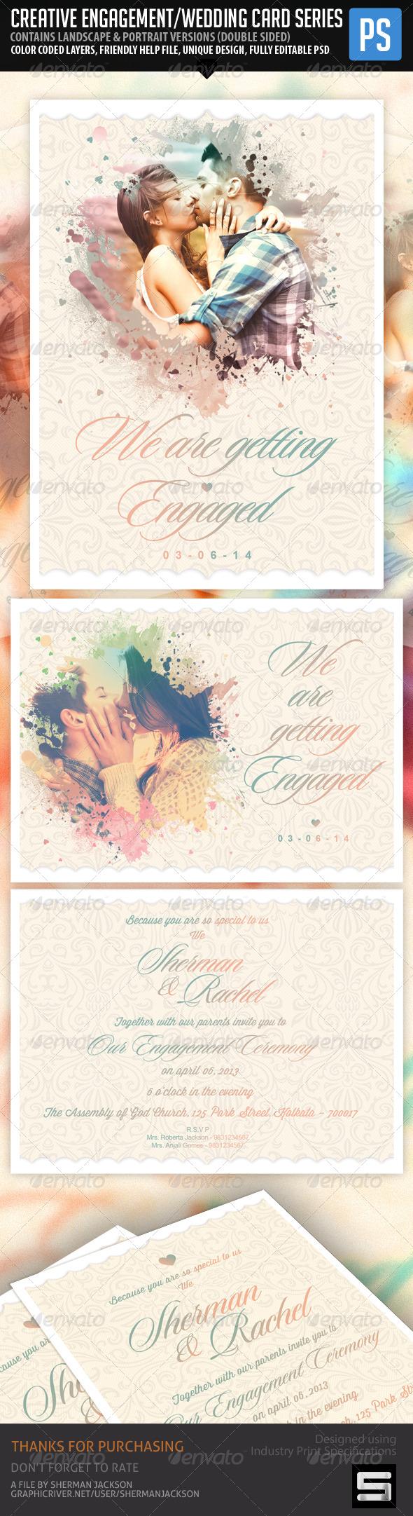 Creative Engagement Wedding Card