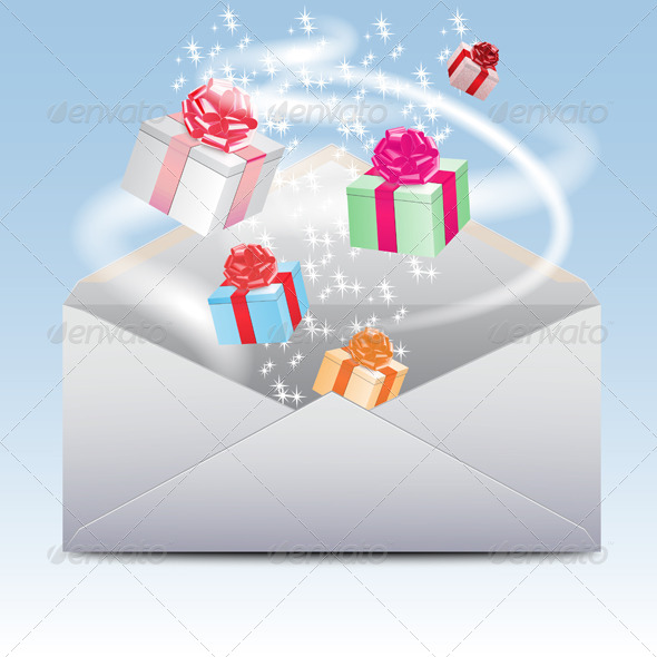 GraphicRiver Envelope with Gifts 7548030