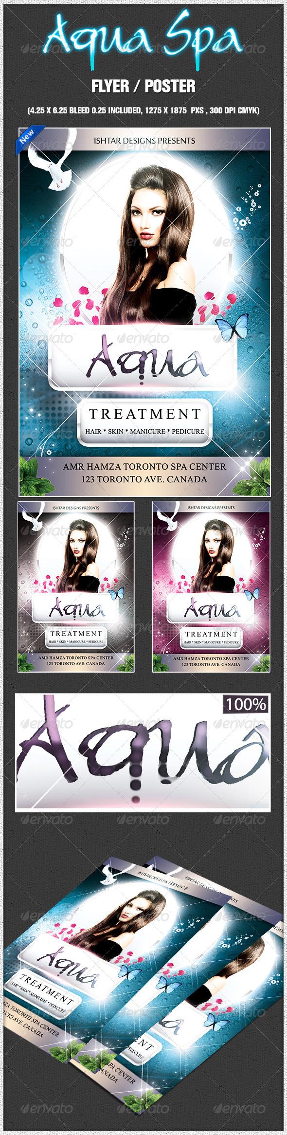 GraphicRiver Aqua Spa Skincare Flyer Theme Template 7548209