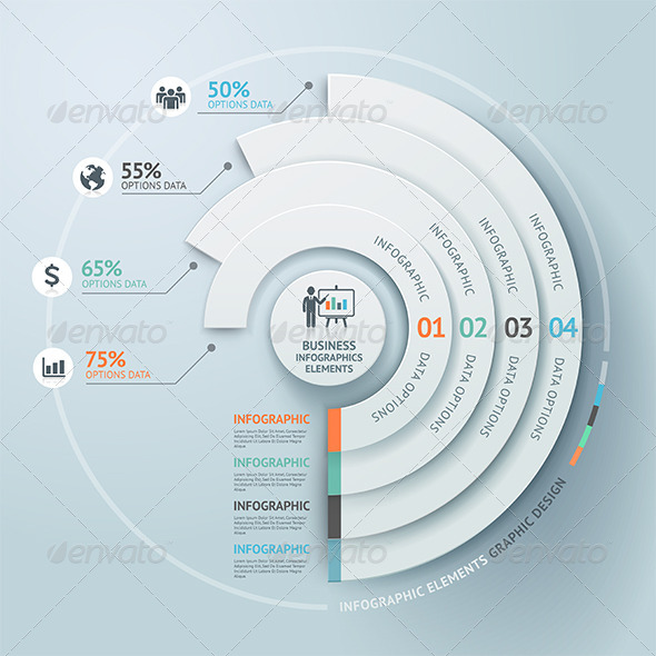 GraphicRiver Business Infographic Circle Elements 7548235
