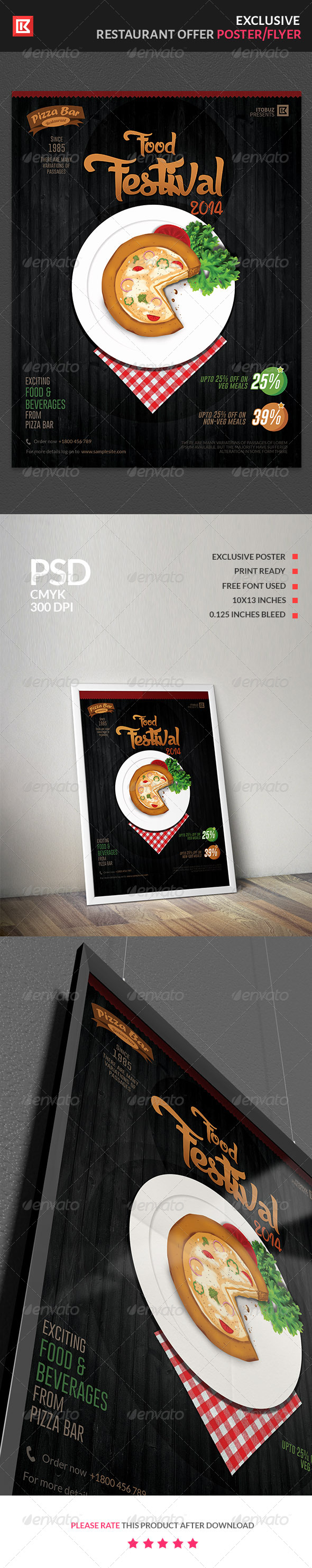 GraphicRiver Food and Beverage Restaurant Offer Poster Flyer 7548254