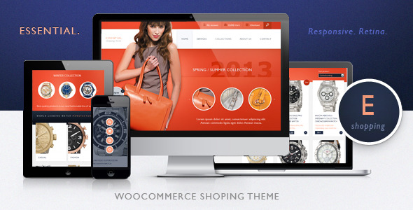 Essential - Responsive. Retina,  WooCommerce Shopping Theme