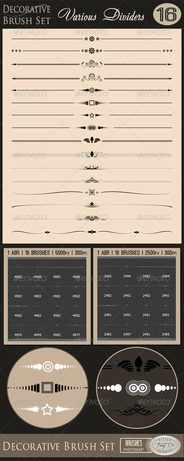 GraphicRiver Decorative Brush Set Various Dividers 7548400