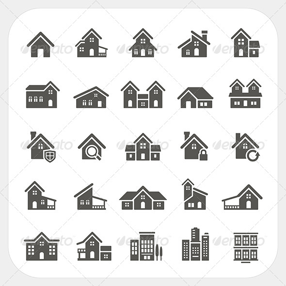 GraphicRiver Houses Icons Set 7548411
