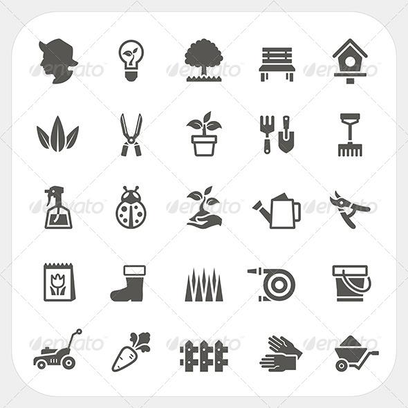 GraphicRiver Gardening Icons Set 7548417
