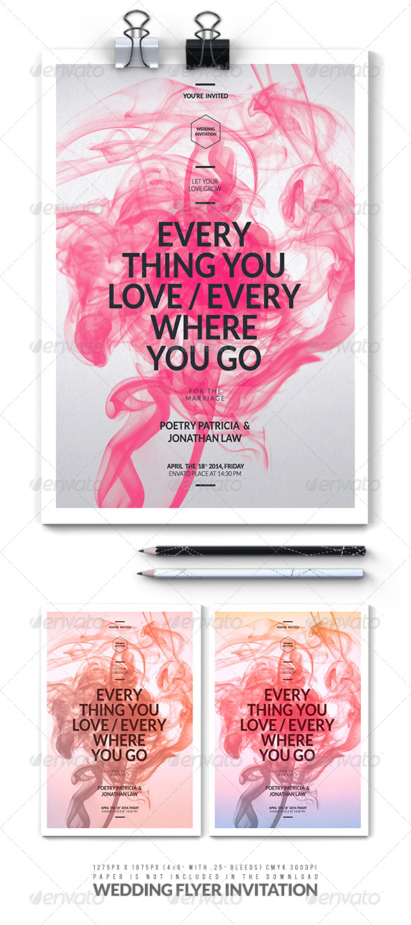GraphicRiver Wedding Flyer Invitation 7548534