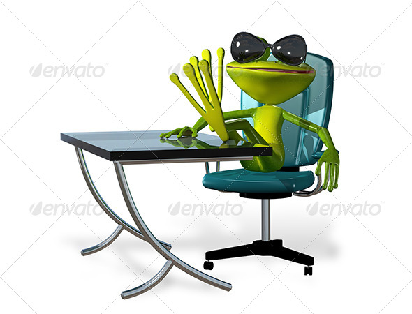 GraphicRiver Frog at the Table 7548535
