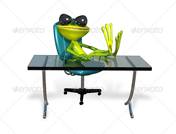 GraphicRiver Frog at the Table 7548538