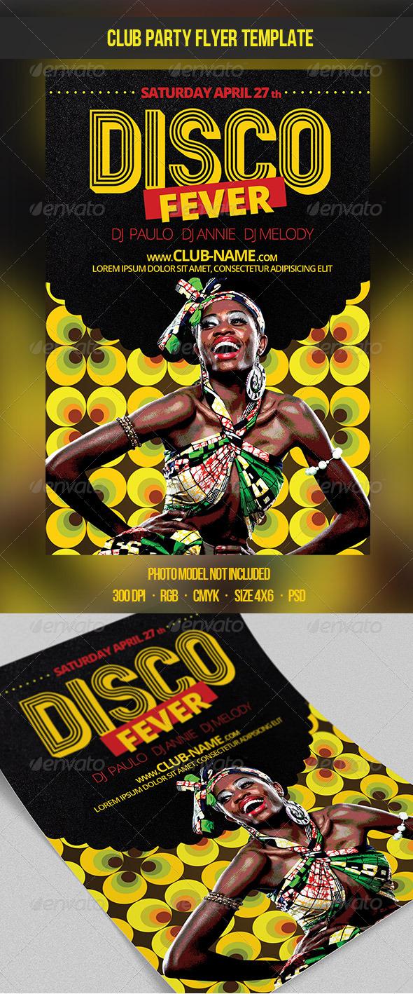 GraphicRiver Disco Fever Flyer Template 7548552