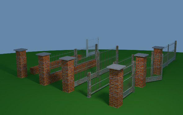 3DOcean Fence Set 7548570