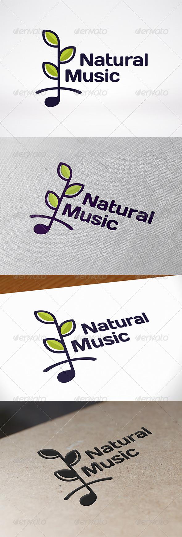 GraphicRiver Nature Music Logo Template 7548575