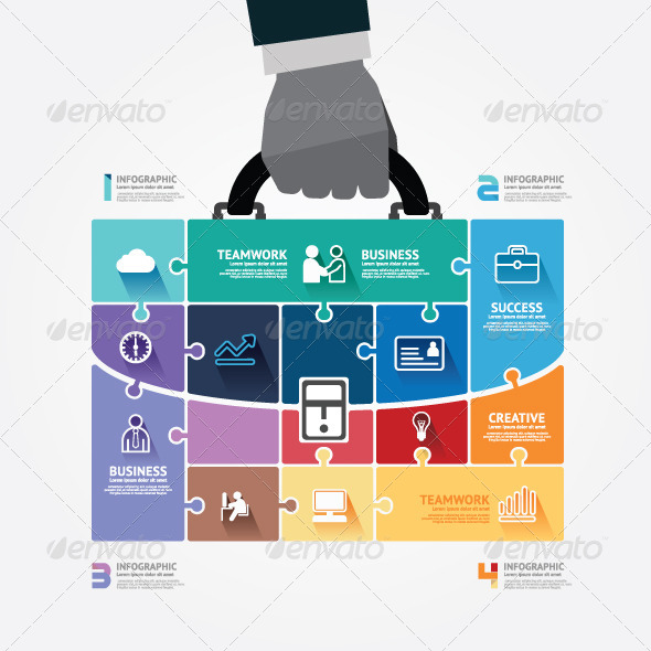 GraphicRiver Infographic Businessman Hand Hold Business Bag 7549096