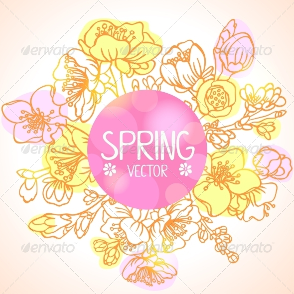 GraphicRiver Spring Branches 7549106