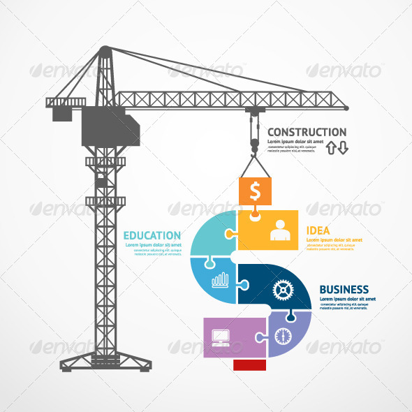 GraphicRiver Infographic Template Construction Tower Crane 7549112