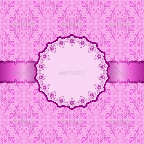 GraphicRiver Invitation Card with Pink Ornament 7549235