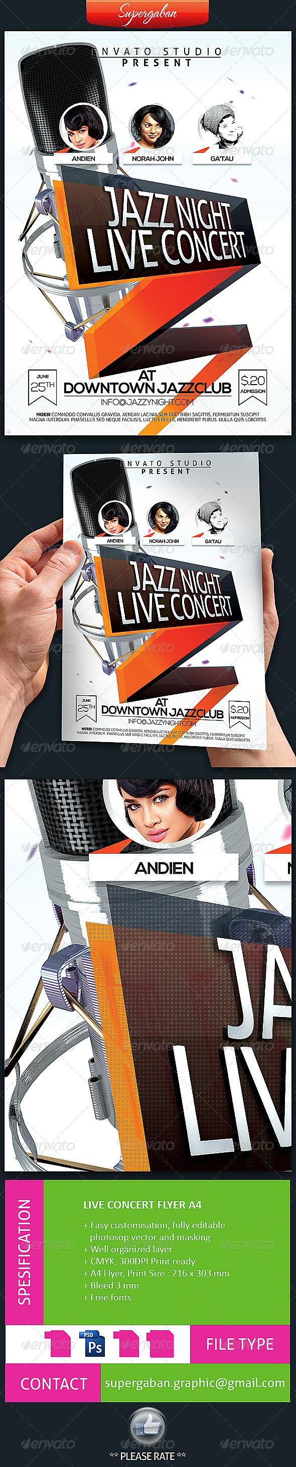 GraphicRiver Live Concert Flyer 7549331