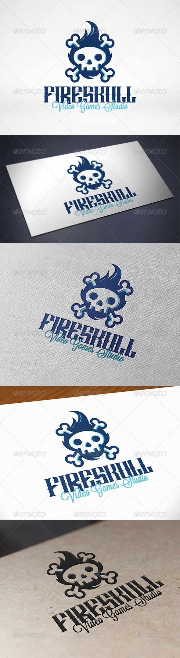 GraphicRiver Fire Skull Logo 7549334