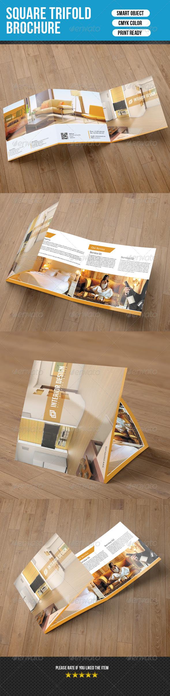 GraphicRiver Square Trifold Brochure-Interior Design 7549541