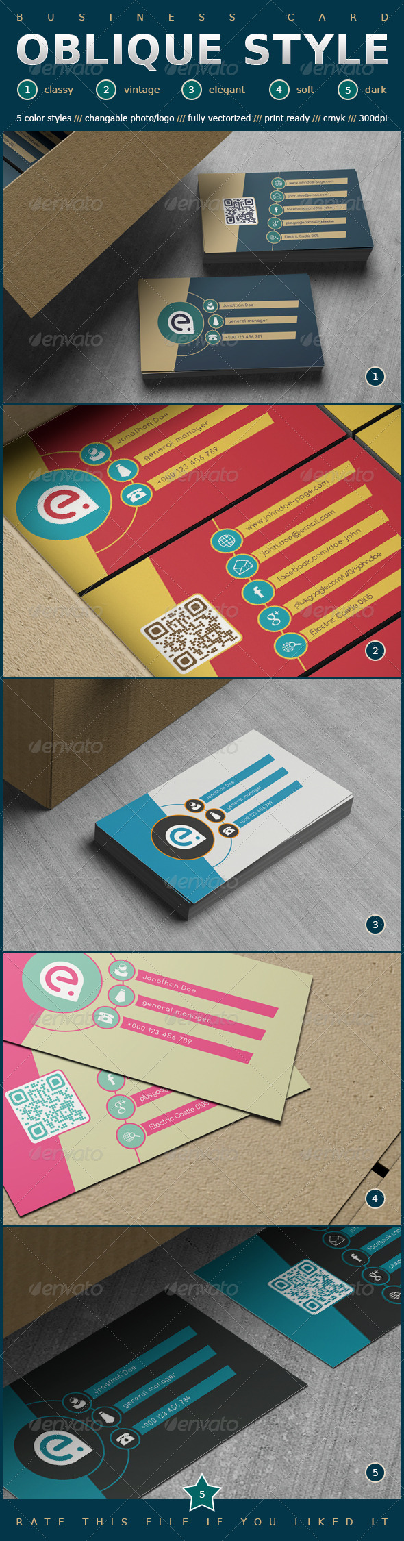 GraphicRiver Oblique Style Business Card 7533607